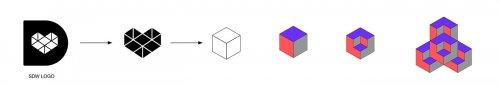 另一种设计大胆的配色与矛盾空间的碰撞出了高级感!