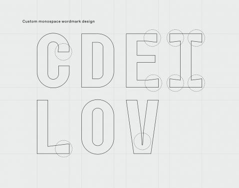 建立在印刷基础之上,标志设计赋予其原始和精致的个性