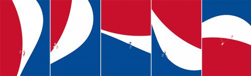 品牌LOGO玩出来了新花样,百事可乐LOGO赋予新的意义很多品